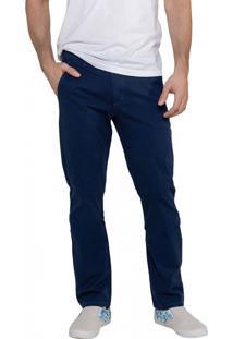 Calça Em Sarja Bolso-Faca Latifundio Jeans - Indigo