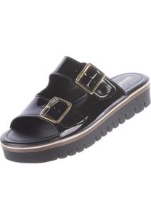 Rasteira Birken Damannu Shoes Preto