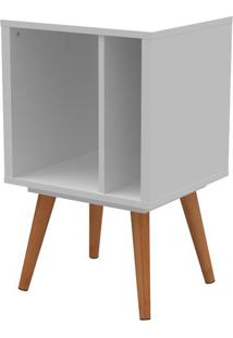 Livreiro Retro Vinil Pequeno Branco Fosco Com Pes Claros 66 Cm (Alt) - 50659 - Sun House