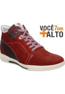 Sapatênis Rafarillo Linha Alth Você + Alto 7Cm 4701 Vermelho - Masculino-Vermelho