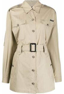 Dolce & Gabbana Trench Coat Com Cinto - Neutro
