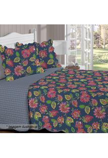 Conjunto De Colcha Renove Em Matelassê Floral King Size-Buettner