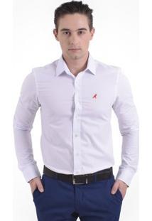 Camisa Horus Social Slim Masculina - Masculino-Branco