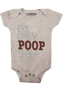 Eat Drink Poop Sleep - Body Infantil