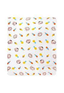 Cobertor Bebê Masculino Cebolinha E Cascão Baby Branco (90X110Cm) - Turma Da Mônica - Tamanho Único - Branco
