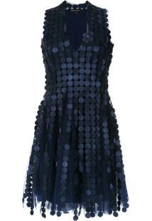 d7b379be6a Farfetch. Vestido Curto Evasê Sem Manga Azul Marinho Poliamida Olk Gloria  Coelho ...