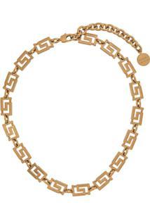 Versace Colar Grecamania - Dourado