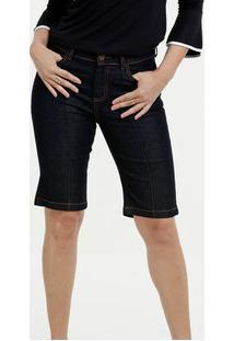 Bermuda Feminina Jeans Cintura Alta Marisa