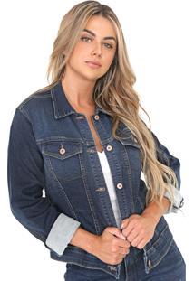 Jaqueta Bloom Jeans De Moletom Azul - Kanui
