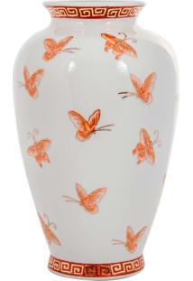 Vaso De Porcelana Zínia - Linha Butterfly