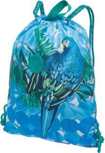 Bolsa Praiana Maxi Arara- Azul & Verde- 43X15Cmfarm