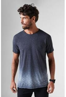 Camiseta Flame Devore Reserva Masculina - Masculino-Preto