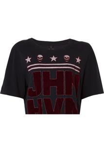 Camiseta John John Logo Feminina (Preto, Pp)