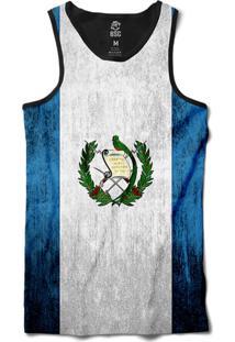 Regata Bsc Bandeira Guatemala Sublimada Preto