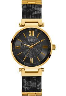 Relógio Guess Feminino Aço E Resina Preta - W0638L10