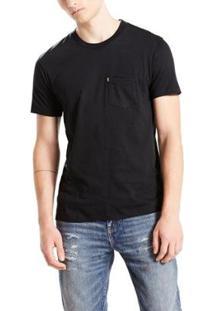 Camiseta Levis Sunset Pocket - Masculino-Preto