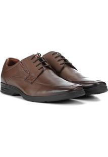 Sapato Social Couro Ferracini Básico React Masculina - Masculino-Marrom