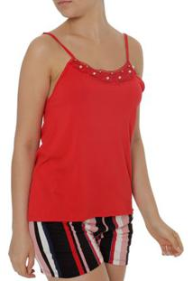 Blusa Regata Feminina Autentique Vermelho