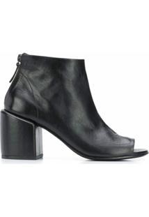 Marsèll Ankle Boot Com Abertura Frontal - Preto