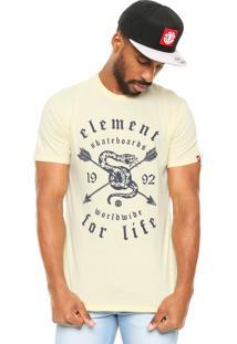 Camiseta Element Snake Charmer Amarela