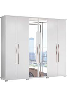 Guarda-Roupa Casal Com 6 Portas Evoque-Móveis Albatroz - Branco
