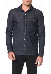Camisa Jeans Manga Longa - G