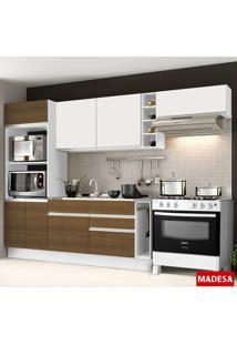 Cozinha Compacta 7 Portas Safira G20180076E09St Branco/Rustic - Madesa