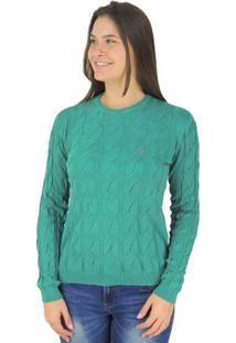 Suéter Feminino Tricô Premium Soho Golaonda - Feminino-Verde