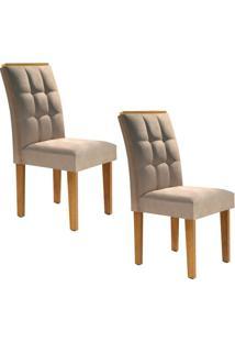 Conjunto Com 2 Cadeiras Dakota Ypê E Pena