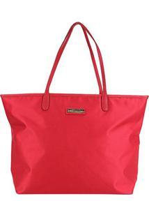 Bolsa Santa Lolla Shopper Nylon Feminina - Feminino-Vermelho