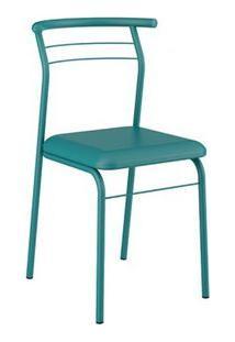 Cadeira Carraro 1708 Aço Color (2 Unidades) Turquesa/Turquesa