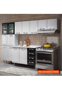 Cozinha Compacta Premium Ii 11 Pt Branca E Preta