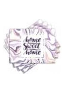 Jogo Americano - Home Sweet Home Com 4 Peças - 1175Jo