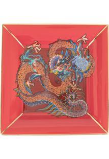 Shanghai Tang Bandeja Quadrada Com Estampa De Dragão - Vermelho