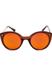 Óculos De Sol Monkey-Giovanna Liso Laranja