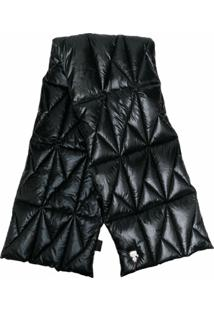 Karl Lagerfeld Cachecol Matelassê Metálico - Preto