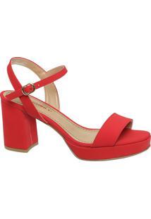 Sandália Meia Pata Vermelha