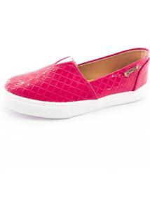 Tênis Slip On Quality Shoes Feminino 002 Matelassê Rosa 32