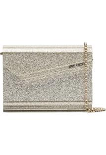 Jimmy Choo Clutch 'Candy' Com Brilho - Metálico