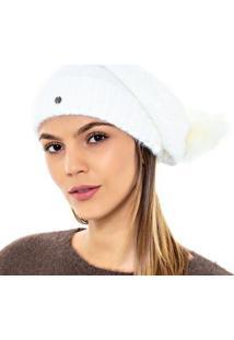 Gorro Katze Pompom - Feminino-Branco