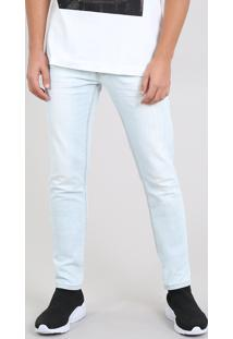Calça Jeans Masculina Skinny Azul Claro