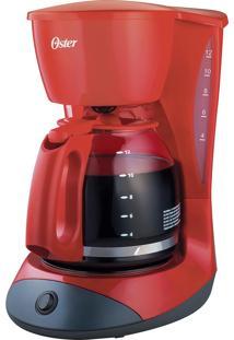 Cafeteira Red Coffee Maker Oster 900W - Serve Até 36 Cafés De 50 Ml Ou 12 De 150 Ml, Filtro Permanente Lavável, Porta Fio Exclusivo E Jarra De Vidro