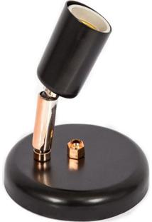 Spot Missuri Preto Com Cobre Alumínio 1 Lâmpada Click Injet 8421/1