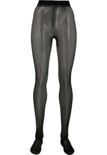 Tom Ford Stretch Seamed Tights - Preto