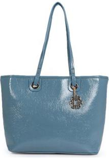 Bolsa Shopping Bag Ana Hickmann Molhado Azul Azul