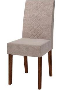 Cadeira Olímpia 2 Peças - Rústico Malbec Com Pena Bege