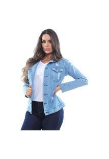 Jaqueta Jeans Feminina Destroyed Crocker - 47664
