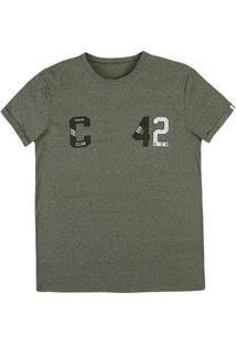 Camiseta Masculina Na Modelagem Slim Em Malha De Algodão Com Estampa