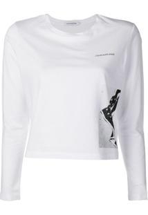 8d8ab6ab3 Ir para a loja  Calvin Klein Jeans Flag Print Cropped Top - Branco
