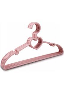 Cabide Com 5 Peças - Infantil Jacki Design Lifestyle Rosa